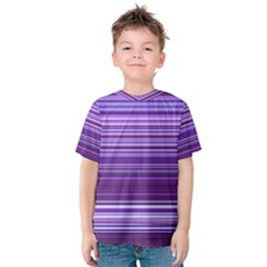 Stripe Colorful Background Kids  Cotton Tee by Simbadda