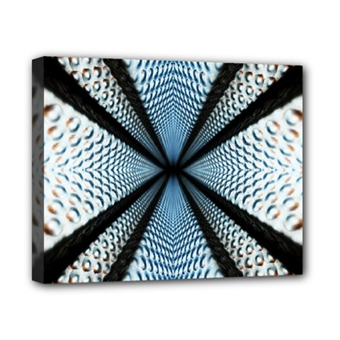 Dimension Metal Abstract Obtained Through Mirroring Canvas 10  X 8  by Simbadda