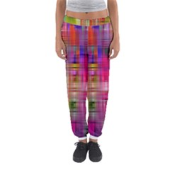 Background Abstract Weave Of Tightly Woven Colors Women s Jogger Sweatpants