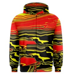 Abstract Clutter Men s Zipper Hoodie by Simbadda