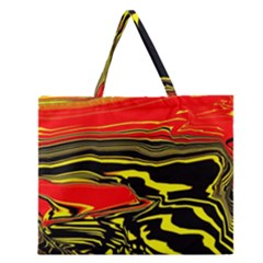 Abstract Clutter Zipper Large Tote Bag by Simbadda