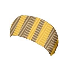 Brown And Orange Herringbone Pattern Wallpaper Background Yoga Headband