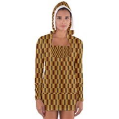 Gold Abstract Wallpaper Background Women s Long Sleeve Hooded T Shirt