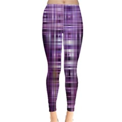 Purple Wave Abstract Background Shades Of Purple Tightly Woven Leggings  by Simbadda