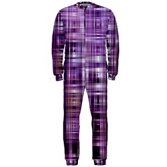 Purple Wave Abstract Background Shades Of Purple Tightly Woven Onepiece Jumpsuit (men)