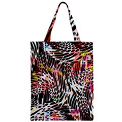 Abstract Composition Digital Processing Zipper Classic Tote Bag