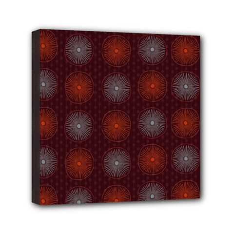 Abstract Dotted Pattern Elegant Background Mini Canvas 6  X 6  by Simbadda