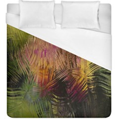 Abstract Brush Strokes In A Floral Pattern  Duvet Cover (king Size) by Simbadda