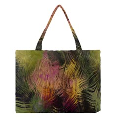 Abstract Brush Strokes In A Floral Pattern  Medium Tote Bag by Simbadda