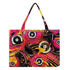 Abstract Clutter Pattern Baffled Field Medium Tote Bag by Simbadda