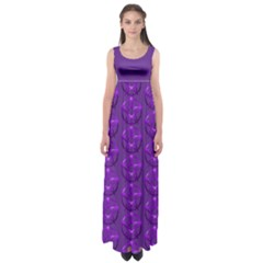 Mystic Purple Pagan Pentacle Wiccan Empire Waist Maxi Dress  by cheekywitch