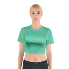 Pattern Cotton Crop Top by Valentinaart