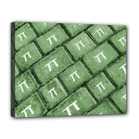 Pi Grunge Style Pattern Canvas 14  X 11  by dflcprints