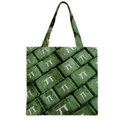 Pi Grunge Style Pattern Grocery Tote Bag by dflcprints