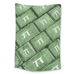 Pi Grunge Style Pattern Large Tapestry by dflcprints
