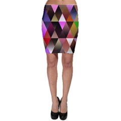 Triangles Abstract Triangle Background Pattern Bodycon Skirt