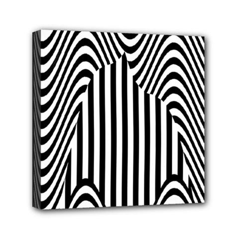 Stripe Abstract Stripped Geometric Background Mini Canvas 6  X 6  by Simbadda
