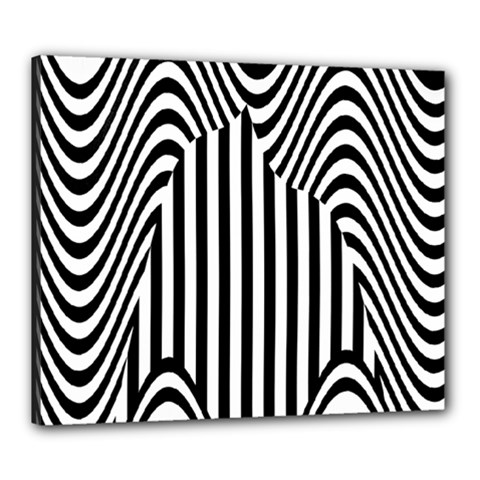 Stripe Abstract Stripped Geometric Background Canvas 24  X 20  by Simbadda