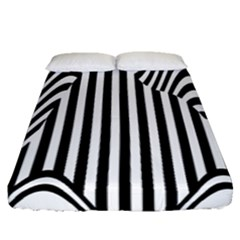 Stripe Abstract Stripped Geometric Background Fitted Sheet (queen Size) by Simbadda