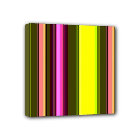 Stripes Abstract Background Pattern Mini Canvas 4  X 4  by Simbadda