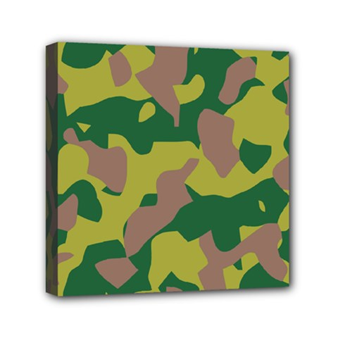 Camouflage Green Yellow Brown Mini Canvas 6  X 6  by Mariart