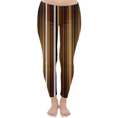 Brown Line Image Picture Classic Winter Leggings by Mariart