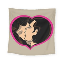 Don t Kiss With A Bloody Nose Face Man Girl Love Square Tapestry (small) by Mariart