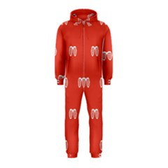 Glasses Disco Retina Red White Line Hooded Jumpsuit (kids) by Mariart