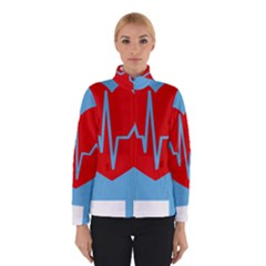 Heartbeat Health Heart Sign Red Blue Winterwear by Mariart