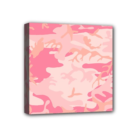 Initial Camouflage Camo Pink Mini Canvas 4  X 4  by Mariart