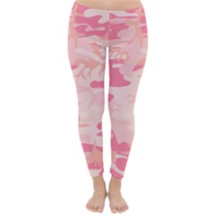 Initial Camouflage Camo Pink Classic Winter Leggings by Mariart
