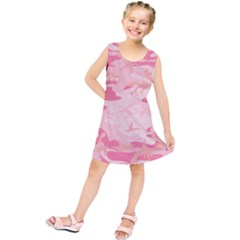 Initial Camouflage Camo Pink Kids  Tunic Dress by Mariart