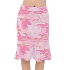 Initial Camouflage Camo Pink Mermaid Skirt by Mariart