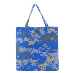 Oceanic Camouflage Blue Grey Map Grocery Tote Bag by Mariart