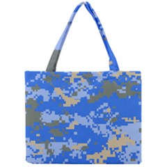 Oceanic Camouflage Blue Grey Map Mini Tote Bag by Mariart