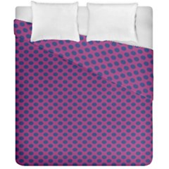 Polka Dot Purple Blue Duvet Cover Double Side (california King Size) by Mariart