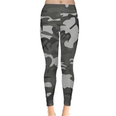 Initial Camouflage Grey Leggings  by Mariart