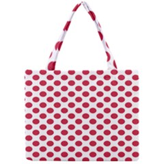Polka Dot Red White Mini Tote Bag by Mariart