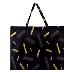 Rectangle Chalks Zipper Large Tote Bag by Mariart