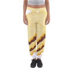 Sandwich Biscuit Chocolate Bread Women s Jogger Sweatpants by Mariart