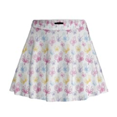Pretty Colorful Butterflies Mini Flare Skirt by tarastyle