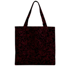 Random Red Black Zipper Grocery Tote Bag by Mariart