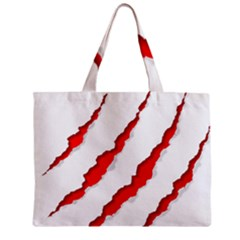Scratches Claw Red White Zipper Mini Tote Bag by Mariart