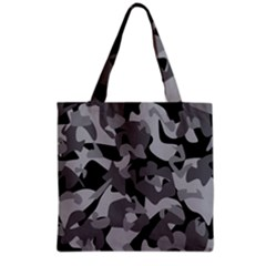Urban Initial Camouflage Grey Black Grocery Tote Bag by Mariart