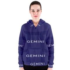 Zodiac Gemini Women s Zipper Hoodie by Mariart