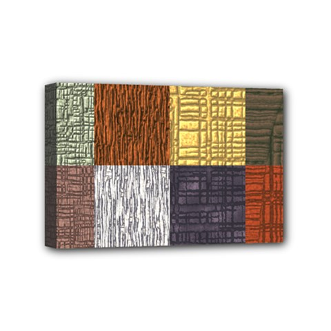 Blocky Filters Yellow Brown Purple Red Grey Color Rainbow Mini Canvas 6  X 4  by Mariart