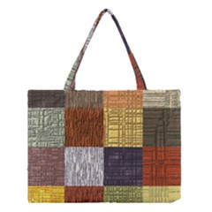Blocky Filters Yellow Brown Purple Red Grey Color Rainbow Medium Tote Bag by Mariart