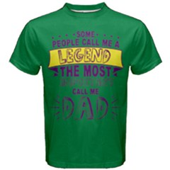 Green & Purple Call Me Legend Most Important Dad Men s Cotton Tee by ThinkOutisdeTheBox