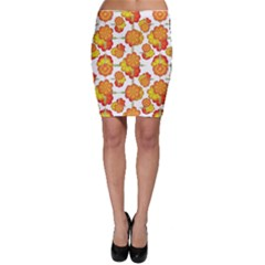 Colorful Stylized Floral Pattern Bodycon Skirt by dflcprintsclothing