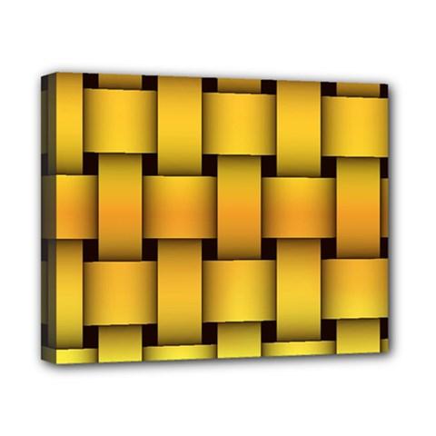 Rough Gold Weaving Pattern Canvas 10  X 8  by Simbadda